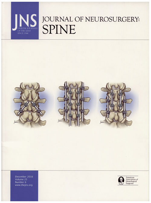 Dr. Hynes' CBT technique featured on the cover of the Journal of Neurosurgery