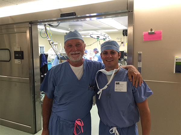 Dr. Hynes new surgical procedure in Memphis, Tenneesse - a great reunion of the engineers work made into reality